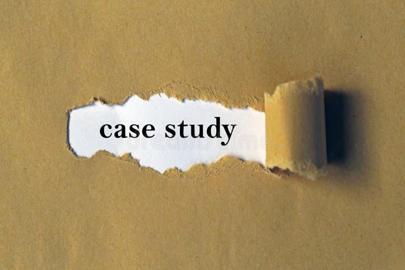 Estudo de caso fotografia de stock royalty free