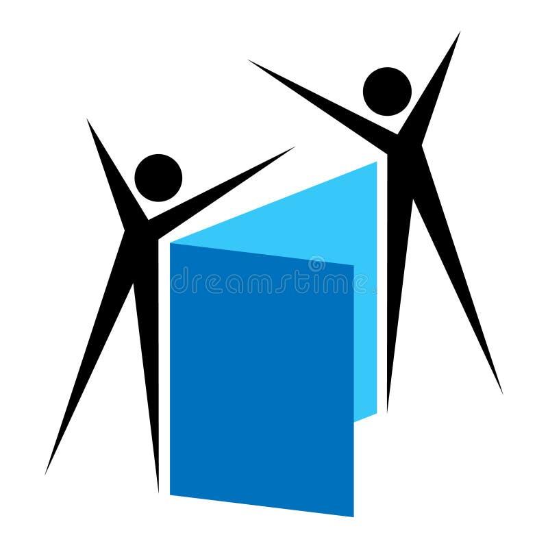 Estudo do grupo ilustração stock