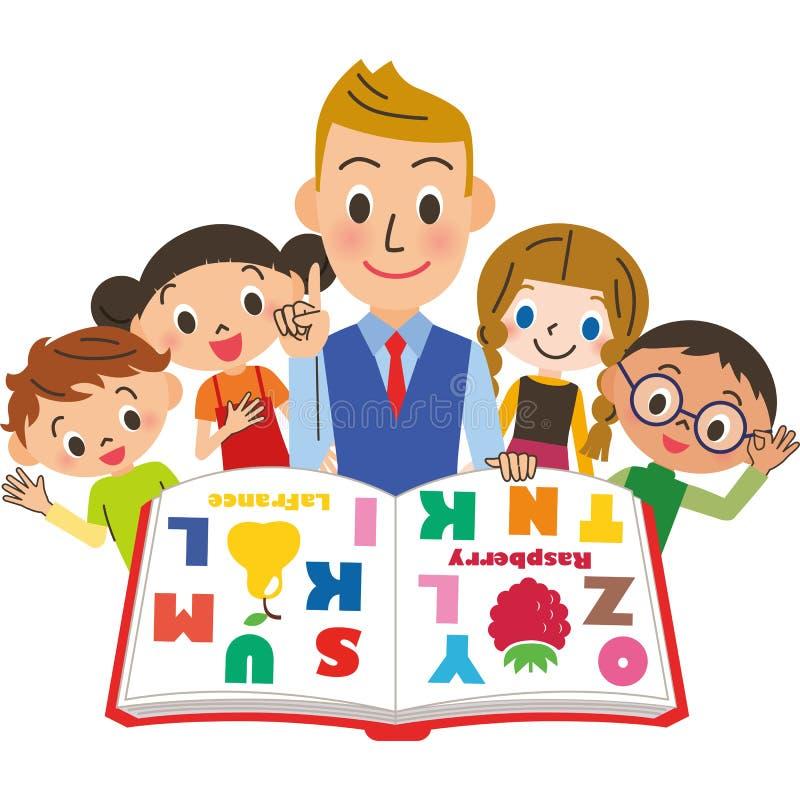 Estudo do inglês ilustração stock