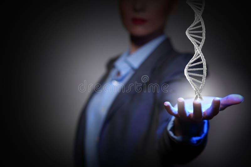 Estudo e exploração da bioquímica Meios mistos fotos de stock