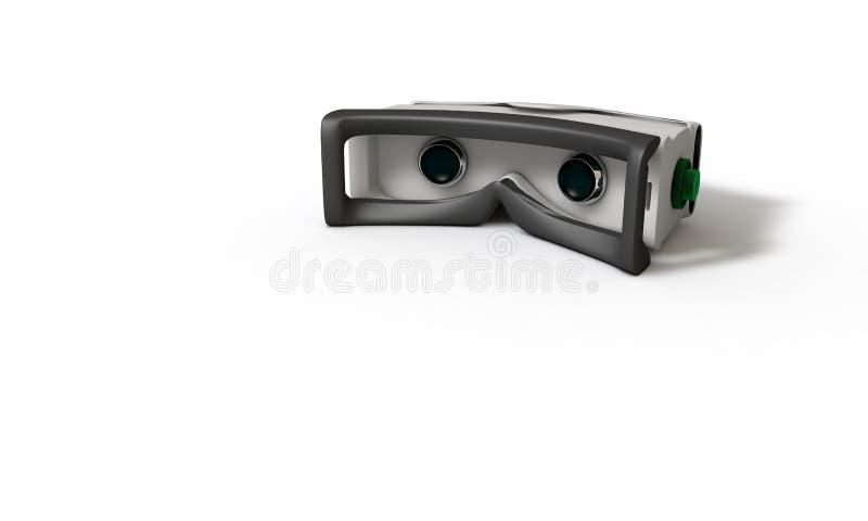 Estudo tridimensional do conceito dos vidros da realidade virtual ilustração do vetor