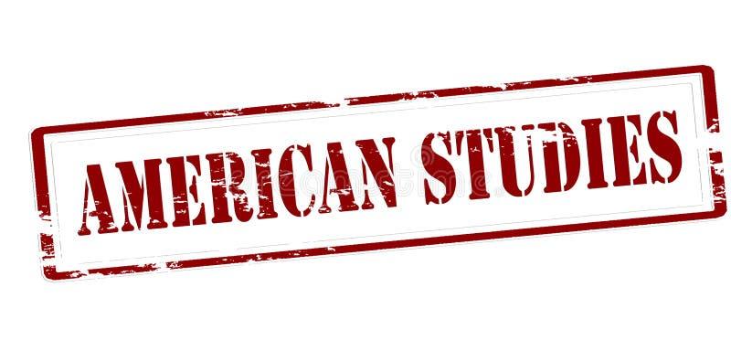 Estudos americanos ilustração do vetor
