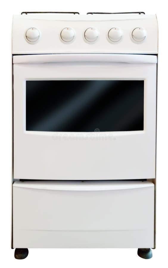 Estufa de gas. Aislado en blanco imagenes de archivo