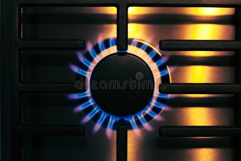 Estufa de gas de acero fotografía de archivo