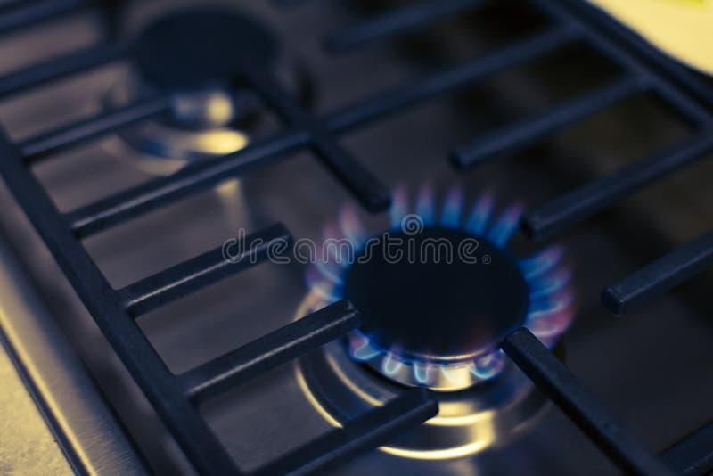 Estufa de gas de acero fotos de archivo