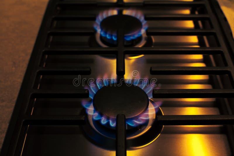 Estufa de gas de acero foto de archivo libre de regalías
