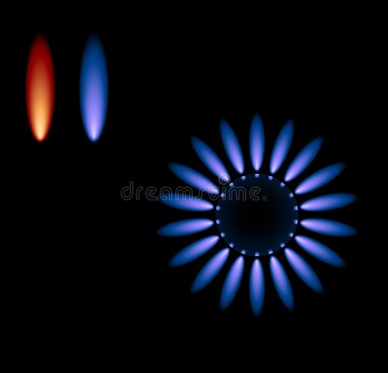 Estufa de gas del vector ilustración del vector