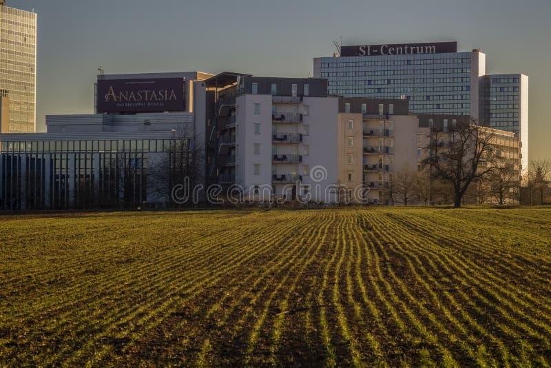 ESTUGARDA, ALEMANHA - FEVEREIRO 18,2019: Moehringen isto é o Si-centro imagem de stock royalty free