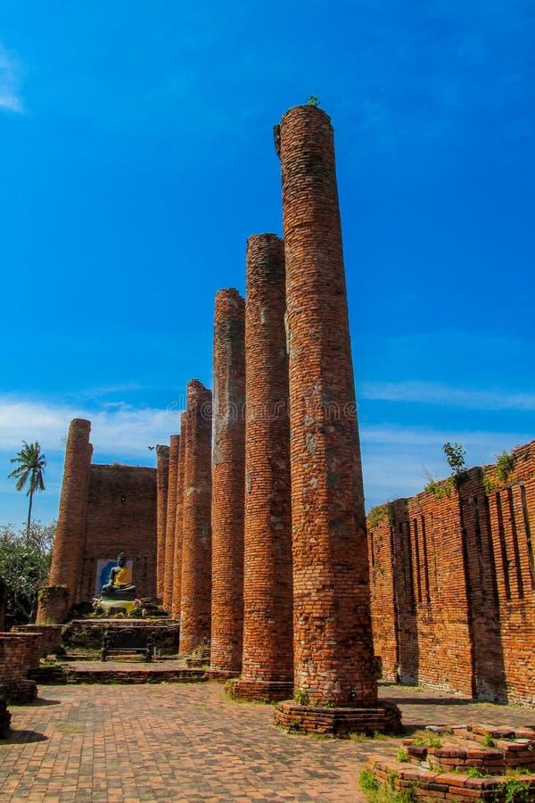 Estupa del antiguo parque histórico de Auttaya en Tailandia foto de archivo libre de regalías