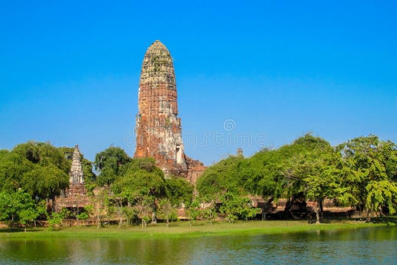 Estupa del antiguo parque histórico de Auttaya en Tailandia fotografía de archivo