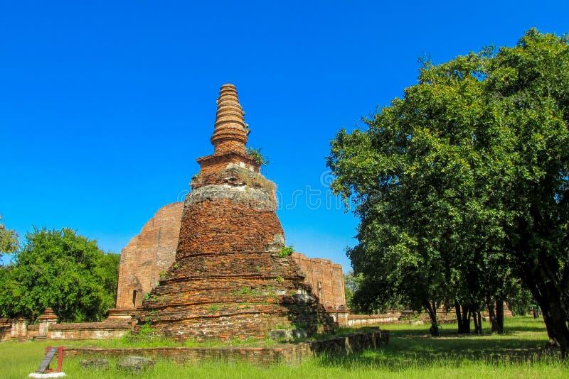 Estupa del antiguo parque histórico de Auttaya en Tailandia fotos de archivo