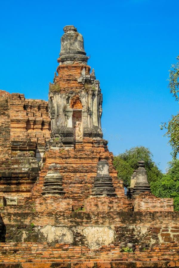 Estupa del antiguo parque histórico de Auttaya en Tailandia fotografía de archivo libre de regalías