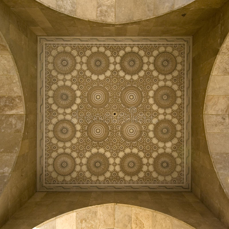 Estuque e mosaico árabes fotografia de stock royalty free