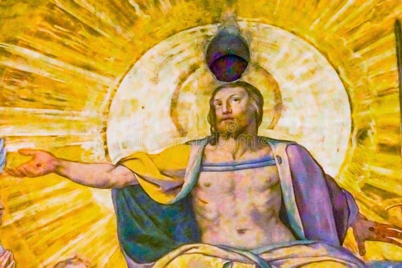 esus osądzenia Vasari fresku J kopuły Duomo Ostatnia katedra Florencja zdjęcia royalty free