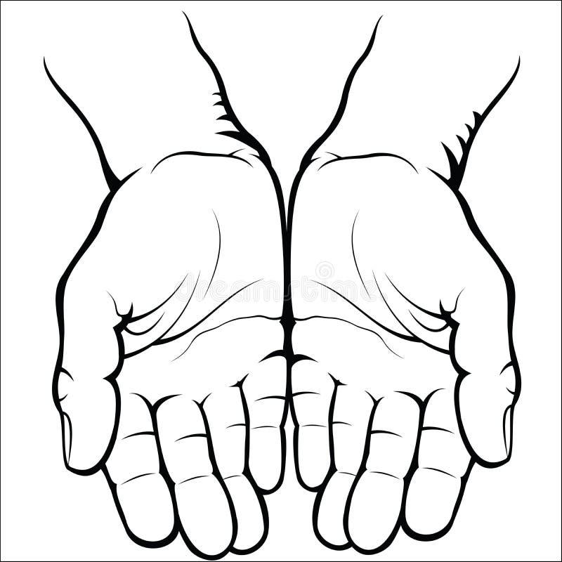 Esvazie as palmas abertas ilustração royalty free
