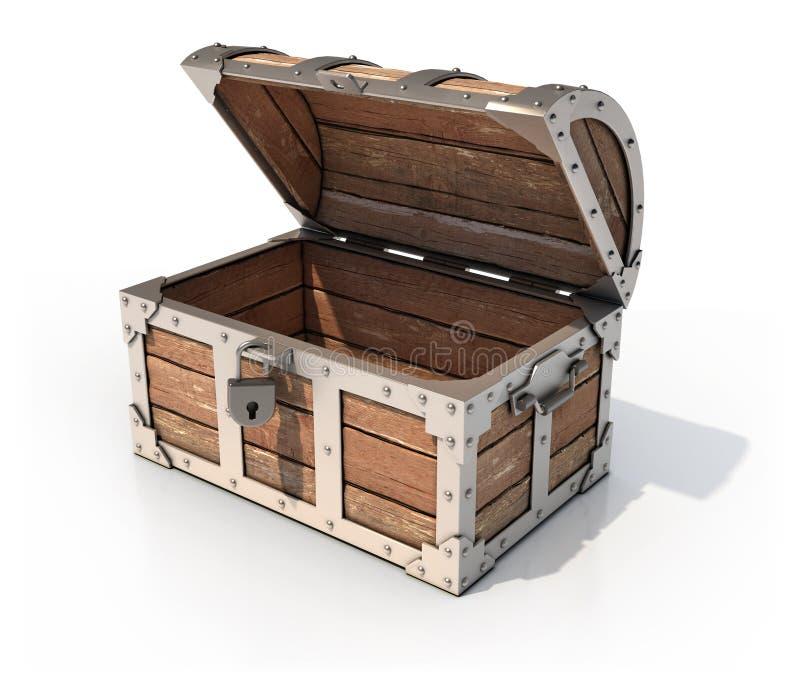 Esvazie a caixa de tesouro ilustração royalty free