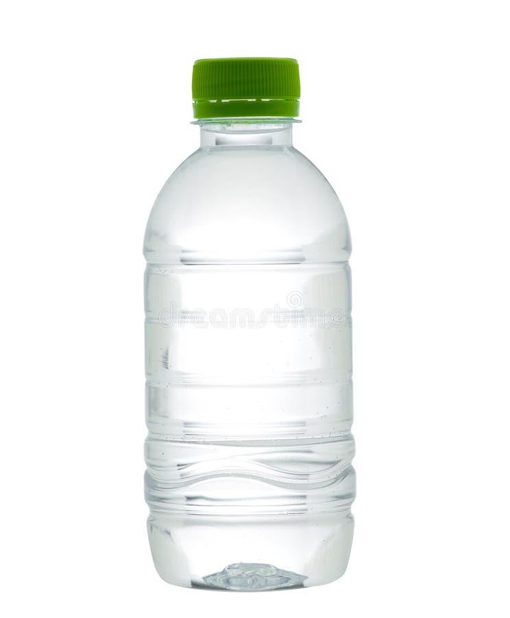 Esvazie e cancele a garrafa de água bebendo fotos de stock royalty free