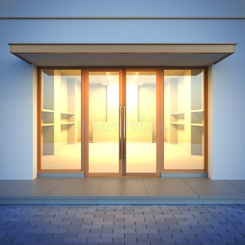 Esvazie a fachada da loja ilustração royalty free