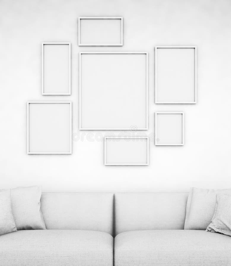 Esvazie frames imagens de stock