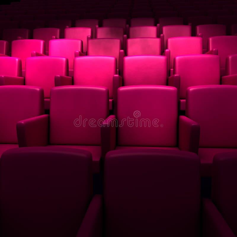 Esvazie o auditório do cinema ilustração royalty free