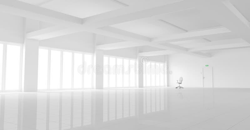 Esvazie o escritório branco ilustração stock