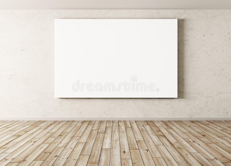 Esvazie o fundo interior com rendição grande do cartaz 3d ilustração do vetor