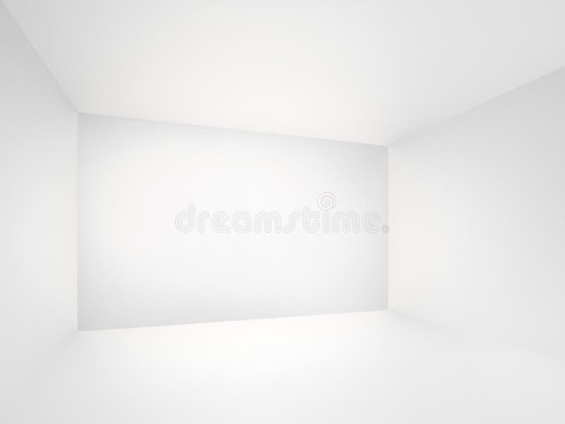 Esvazie o interior do quarto branco imagens de stock