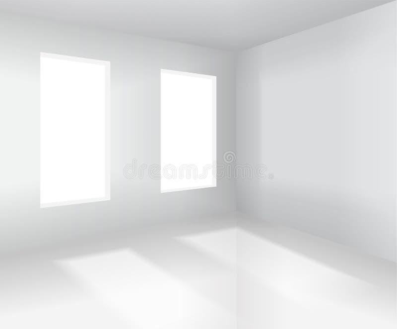Esvazie o interior do quarto branco Ilustração do vetor ilustração do vetor