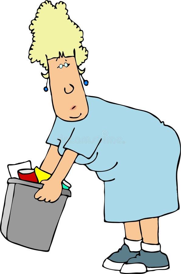 Esvazie o lixo ilustração do vetor