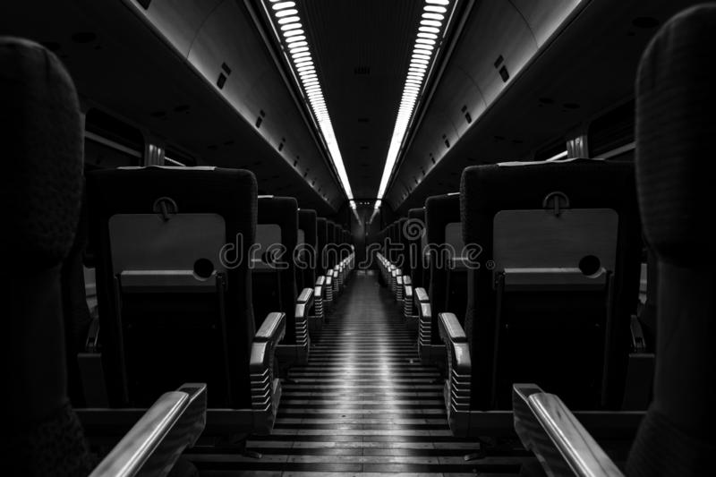 Esvazie o trem fotografia de stock