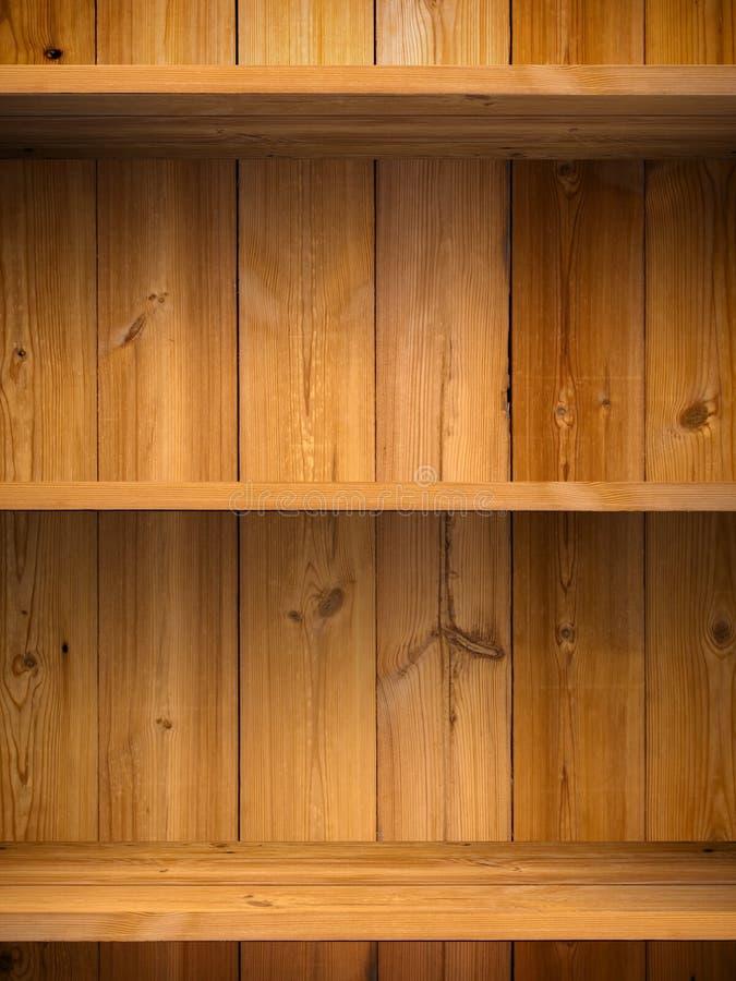Esvazie a prateleira de madeira imagens de stock