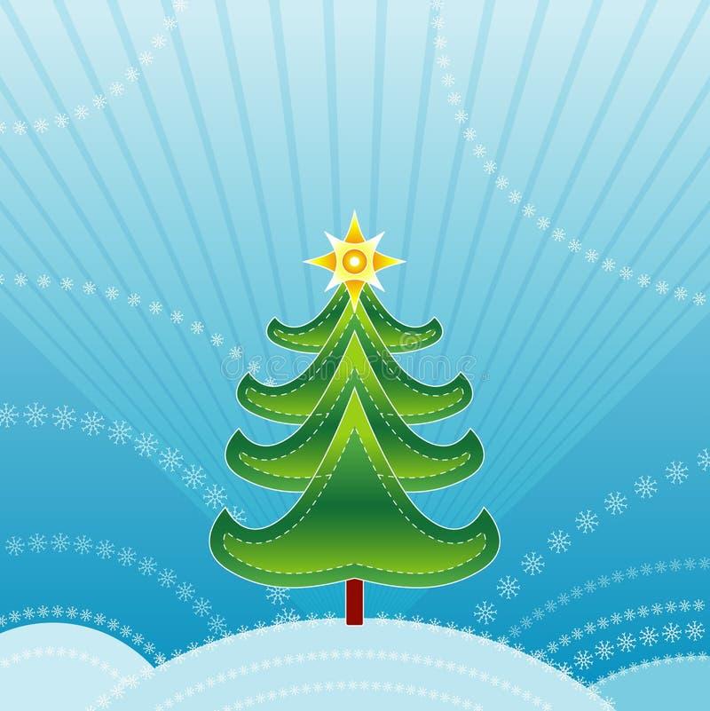 Esverdeie a árvore de Natal, vetor   ilustração stock