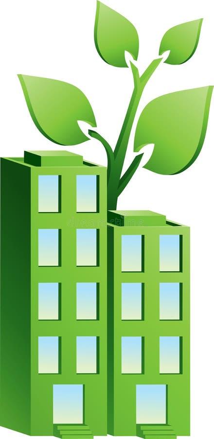 Esverdeie apartamentos ilustração do vetor