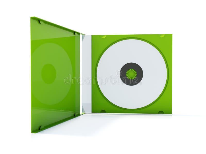 Esverdeie a caixa cd ilustração royalty free