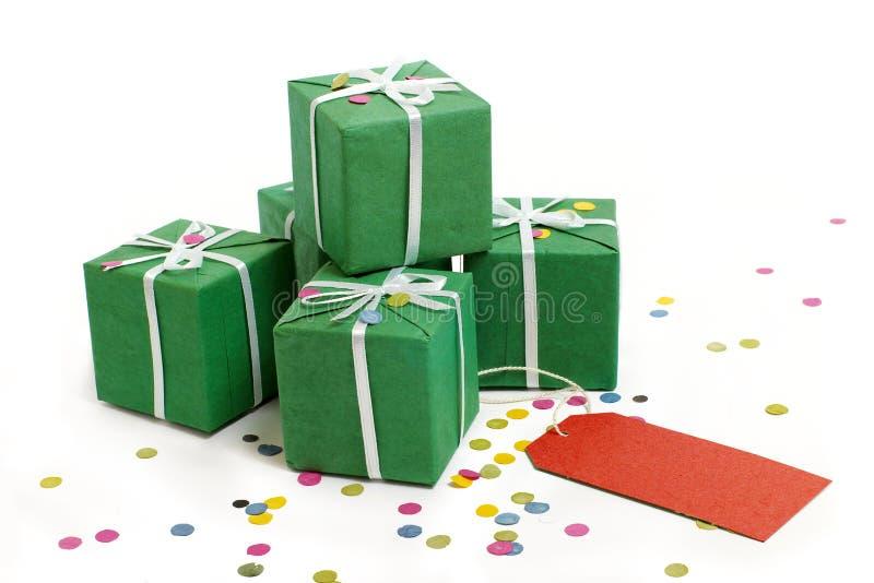 Esverdeie caixas imagens de stock royalty free