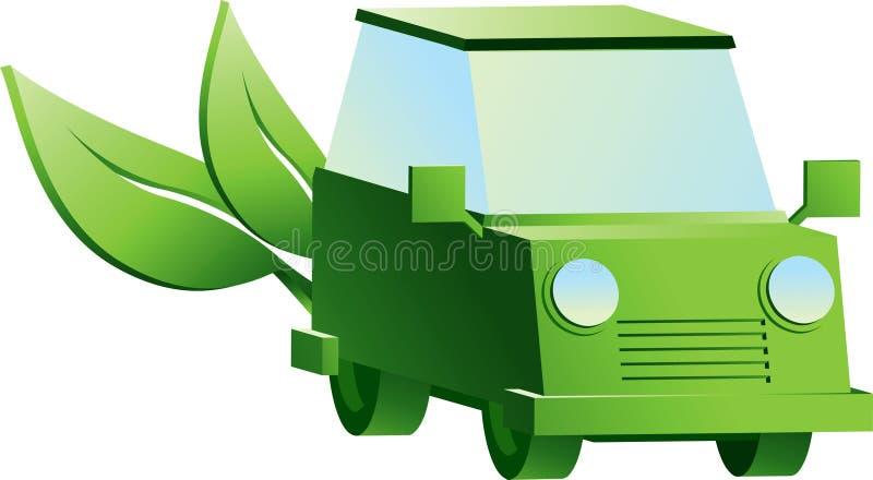 Esverdeie o carro ilustração stock