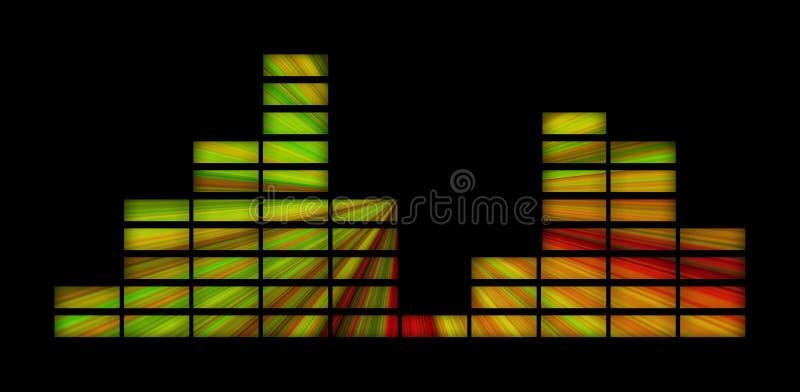 Esverdeie o equalizador amarelo e vermelho fotos de stock royalty free