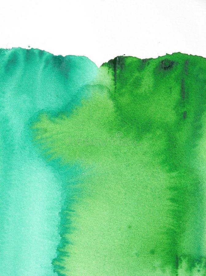 Esverdeie o fundo abstrato da aguarela ilustração stock