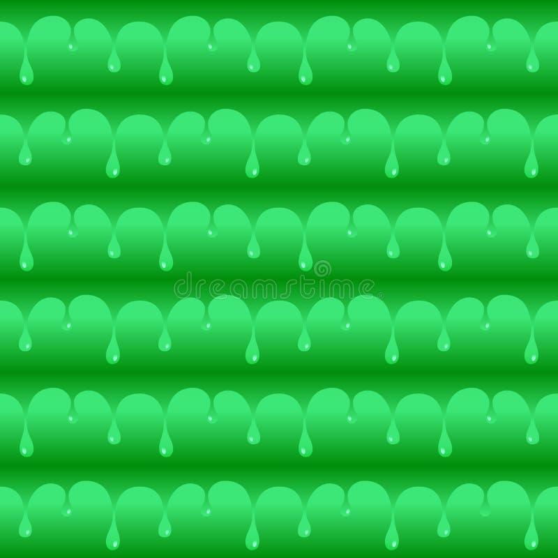 Esverdeie a textura ou o teste padrão sem emenda envenenado do vetor das gotas da água ilustração do vetor