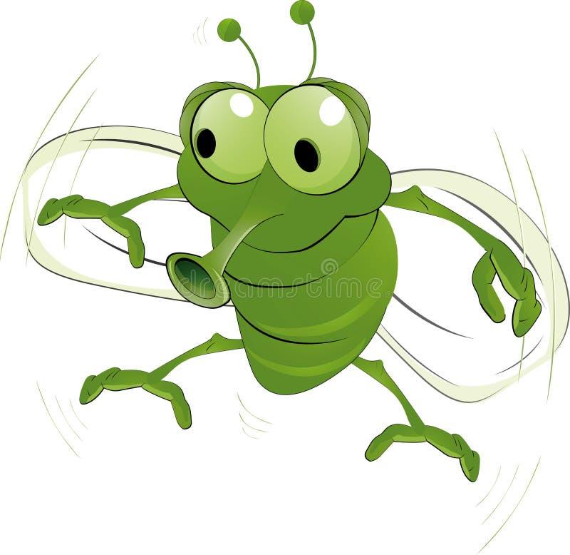 Esverdeie um inseto ilustração do vetor