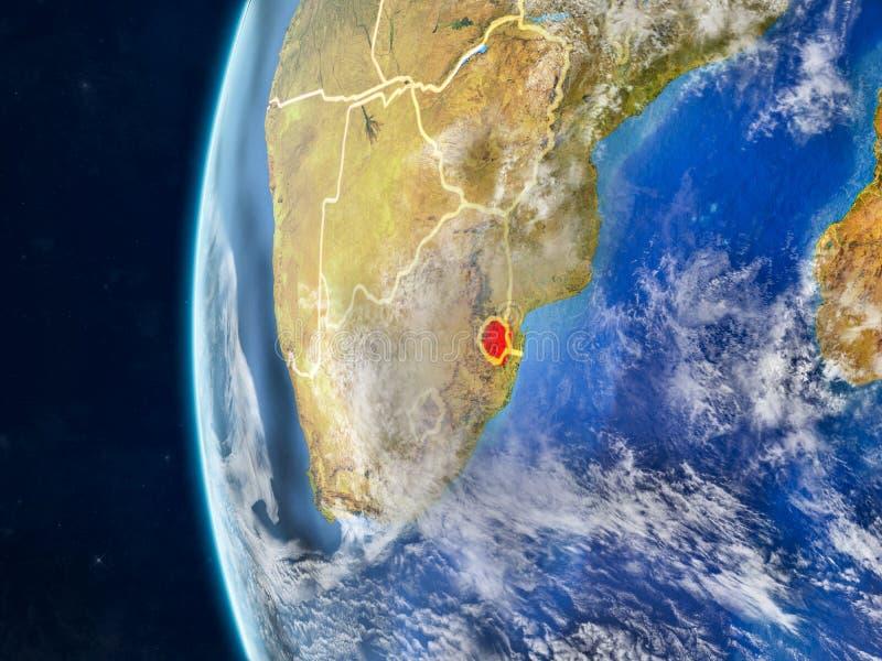 eSwatini op bol van ruimte royalty-vrije illustratie