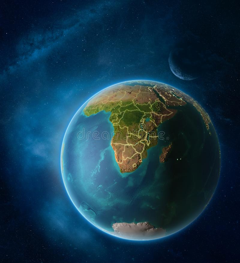 eSwatini van ruimte op aarde vector illustratie