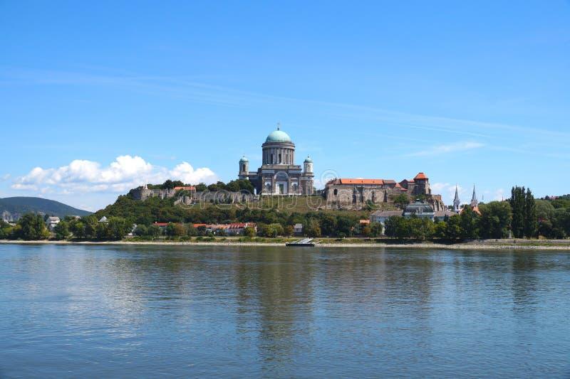 Esztergom первая столица Венгрии, взгляд базилики стоковое фото rf