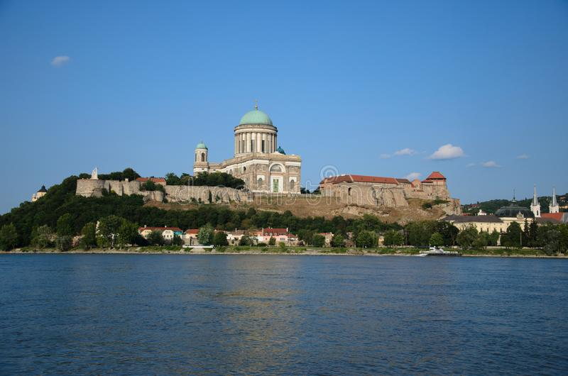 Esztergom Basilica. Esztergom. The Primatial Basilica of the Blessed Virgin Mary Assumed Into Heaven and St Adalbert, is an ecclesiastic basilica in Esztergom royalty free stock image