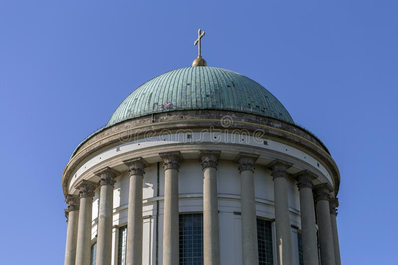 Esztergom Basilica in Hungary on a hot summer day.  royalty free stock image