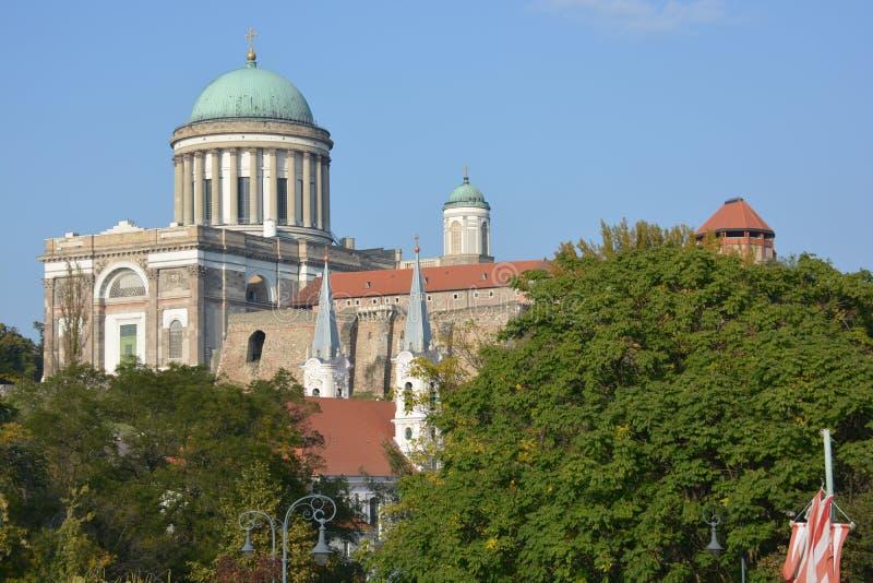 Esztergom basilika (Ungern) royaltyfri bild