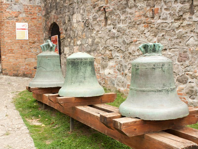 Esztergom Castle Museum of the Hungarian National Museum. Bells of Esztergom Castle Museum of the Hungarian National Museum royalty free stock photography