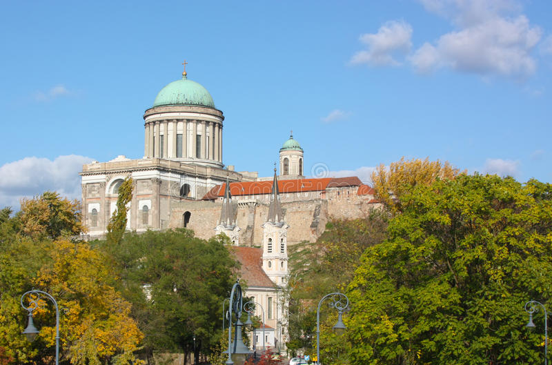 Esztergom,Hungary. Esztergom was the capital of Hungary from the 10th till the mid-13th century when King Béla IV of Hungary moved the royal seat to Buda.The stock photo
