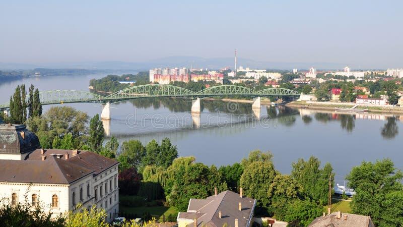 esztergomhungary town arkivbild