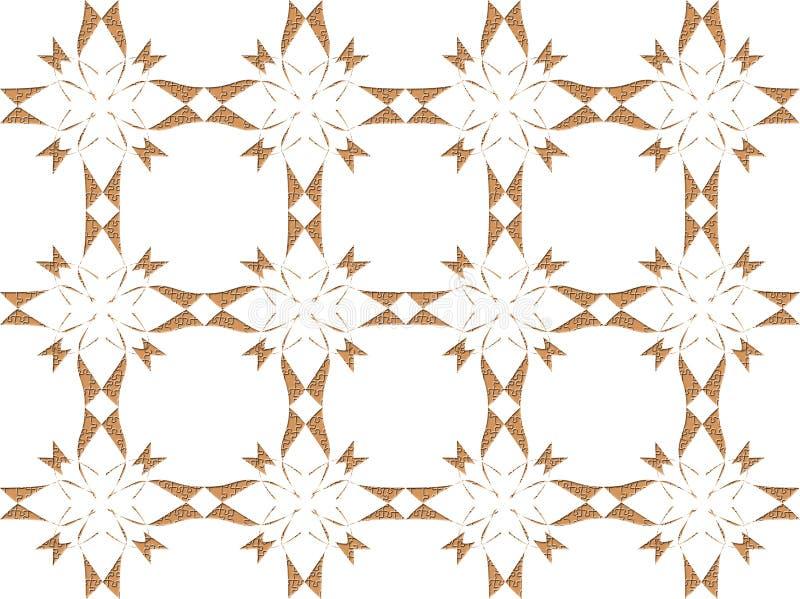 Or et conception florale blanche illustration de vecteur